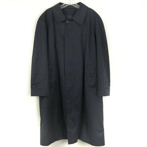 Burberrys Mens Size Short 42 Trench Coat Navy Blue